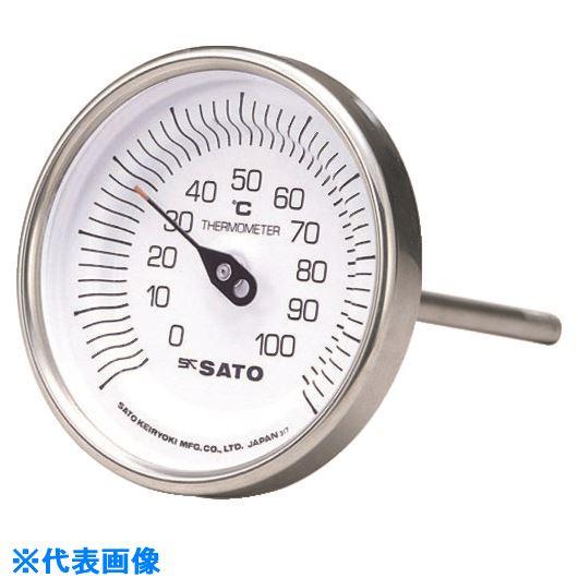 ■佐藤 バイメタル式温度計BM-T-90S 0~200℃200L(2010-76)  〔品番:BM-T-90S-16〕[TR-1662764]