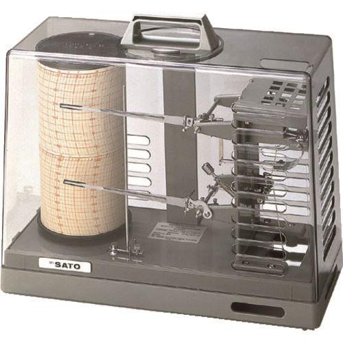■佐藤 シグマ2型温湿度記録計(手巻き式) (7215-00)  〔品番:7215-00〕[TR-1664286]【個人宅配送不可】