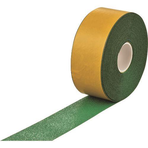 ■緑十字 高耐久ラインテープ(反射+滑り止めタイプ) 緑 100MM幅×20M 両端テーパー構造 屋内外兼用  〔品番:105232〕[TR-1668913]【個人宅配送不可】