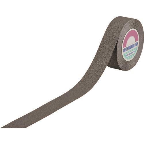 ■緑十字 滑り止めラインテープ(樹脂凹凸タイプ) グレー 50MM幅×18M ポリエチレン製  〔品番:260402〕[TR-1668922]