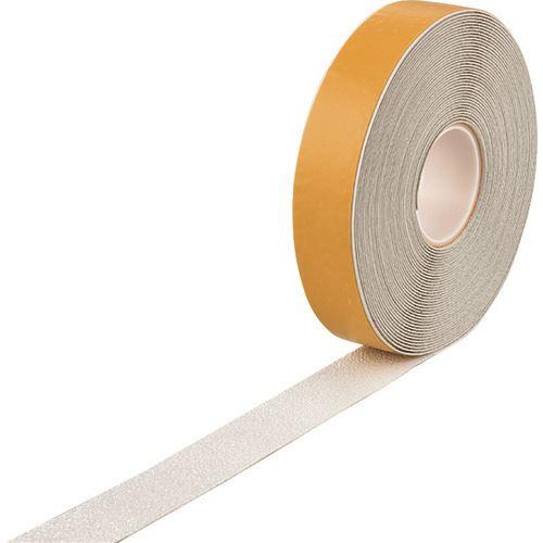 ■緑十字 高耐久ラインテープ(反射+滑り止めタイプ) 白 50MM幅×20M 両端テーパー構造 屋内外兼用  〔品番:105221〕[TR-1668964]