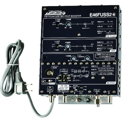 ■日本アンテナ 屋内用CS・BS/UHF/V-LOW・FM増幅器 4K8K対応  〔品番:E46FUSS2〕[TR-1671148]