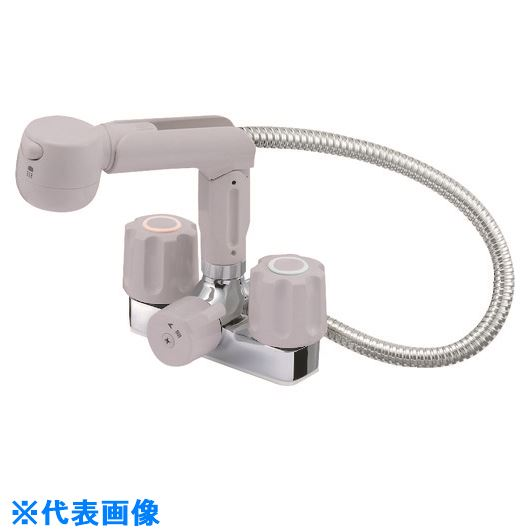■SANEI ツーバルブスプレー混合栓〔品番:K3104V-LH-13〕[TR-1675398]