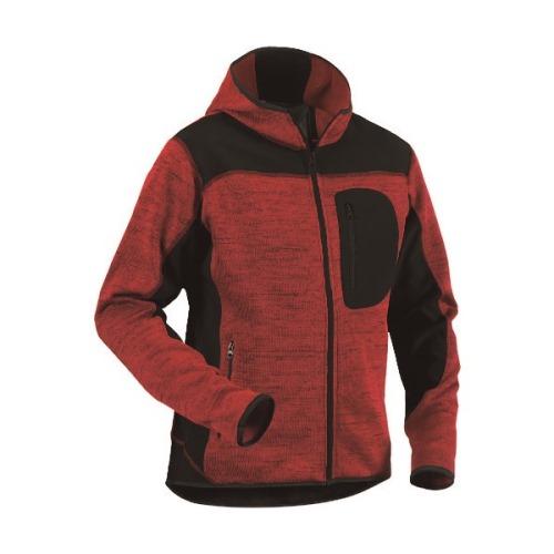 ■bigborn ニットジャケット レッド×ブラック XS〔品番:8219-2117-5699-XS〕[TR-1675464]【個人宅配送不可】