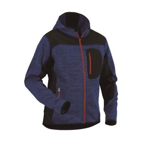 ■bigborn ニットジャケット コーンフラワーブルー×ブラック XL〔品番:8219-2117-8599-XL〕[TR-1675483]【個人宅配送不可】
