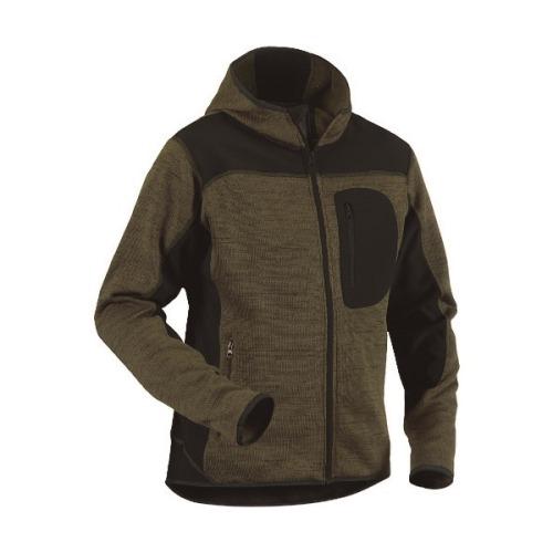 ■bigborn ニットジャケット アーミーグリーン×ブラック XL〔品番:8219-2117-4699-XL〕[TR-1675519]【個人宅配送不可】