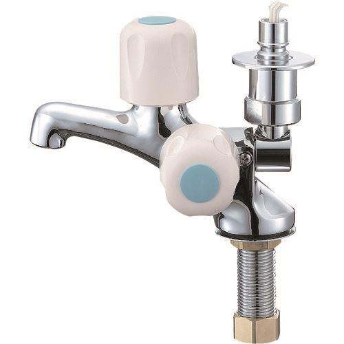 ■SANEI 洗濯機用二口立水栓  〔品番:JF505TV-1-13〕[TR-1677015]
