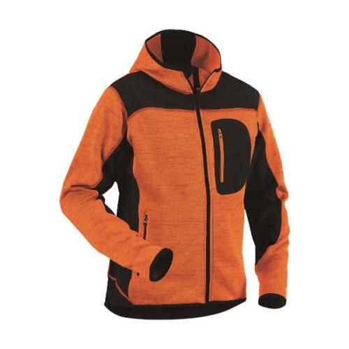 ■bigborn ニットジャケット オレンジ×ブラック L〔品番:8219-2117-5399-L〕[TR-1677061]【個人宅配送不可】