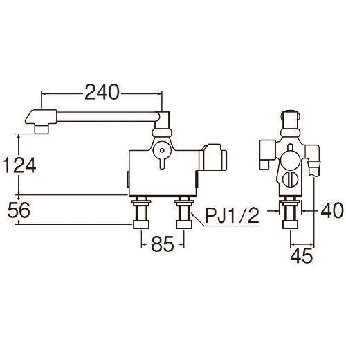 ■SANEI サーモデッキシャワー混合栓〔品番:SK7800D-13〕[TR-1681777]