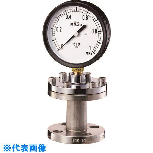 ■右下 隔膜式圧力計 BF型〔品番:KA-BF-15A-304-1.6MPA〕[TR-1682505][送料別途見積り][法人・事業所限定][外直送]