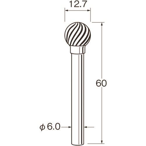 ■リューター 難削材加工用超硬カッター〔品番:K8612〕[TR-1684443][送料別途見積り][法人・事業所限定][掲外取寄]