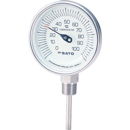 ■佐藤  バイメタル温度計BMーS型〔品番:BM-S-90S-1〕[TR-1689151]