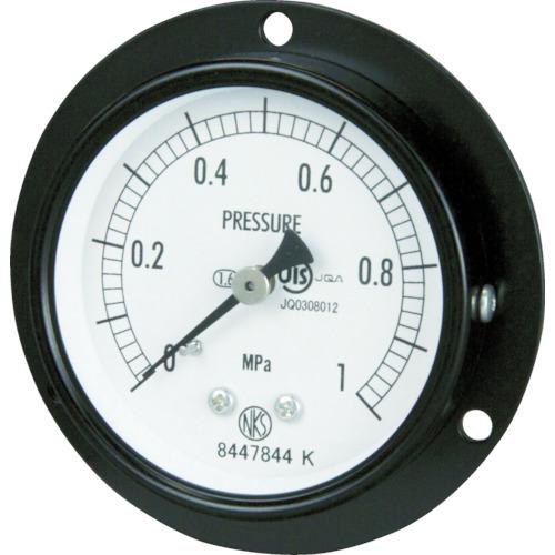 ■長野 普通形圧力計 D枠埋込型 Φ60 最小目盛0.100 〔品番:AA15-221-6.0MP〕[TR-1692739]