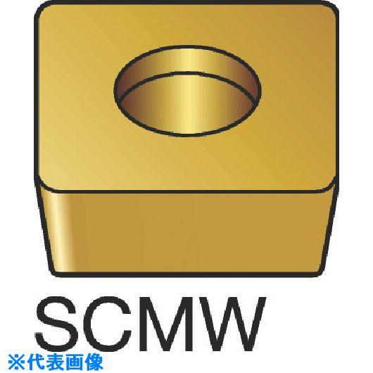 ■サンドビック コロターン107 旋削用ポジ・チップ H13A H13A 10個入 〔品番:SCMW〕[TR-1739115×10]