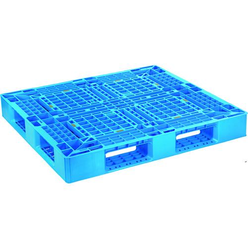 ■NPC プラスチックパレットSLB-1211 片面四方差し ブル-  〔品番:SLB-1211-BL〕外直送元[TR-1754503]【大型・重量物・個人宅配送不可】