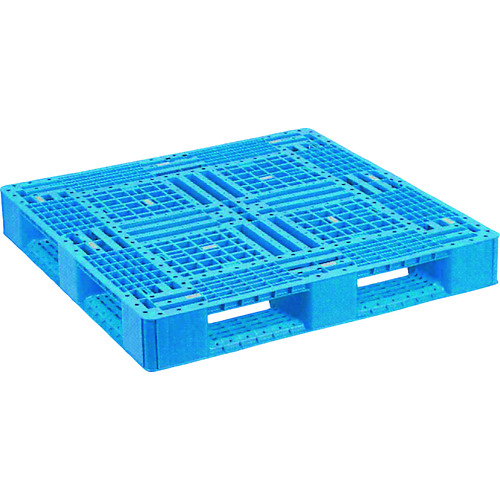 ■NPC プラスチックパレットFA-1111(PP材) 片面四方差し ブル-  〔品番:FA-1111-PP-BL〕外直送元[TR-1754504]【大型・重量物・個人宅配送不可】