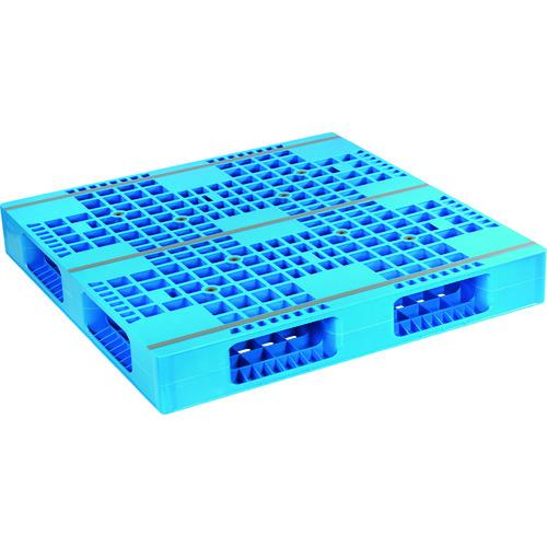 ■NPC プラスチックパレットAZFR-1111E 両面四方差し ブル-  〔品番:AZFR-1111E-BL〕外直送元[TR-1754535]【大型・重量物・個人宅配送不可】