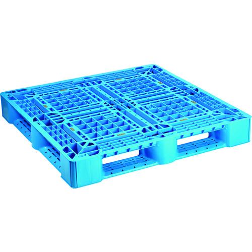 ■NPC プラスチックパレットSLA-1111 片面四方差し ブル-  〔品番:SLA-1111-BL〕外直送元[TR-1756024]【大型・重量物・個人宅配送不可】