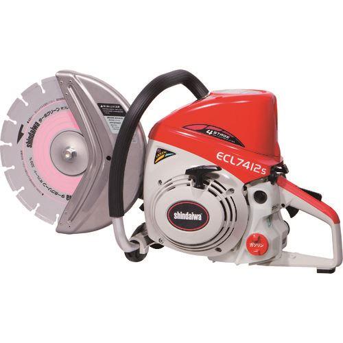 ■新ダイワ エンジンカッター(分離潤滑) ブレード付き  〔品番:ECL7412S-CD〕[TR-1769066]【送料別途お見積り】
