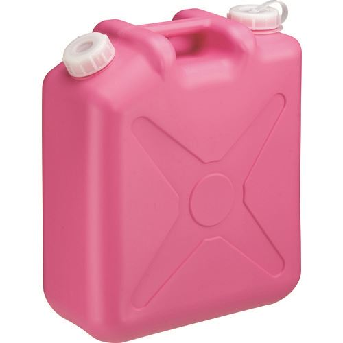 ■瑞穂 扁平缶20Lピンクノズルなし   〔品番:0207PK〕[TR-1771029]【大型・重量物・送料別途お見積り】
