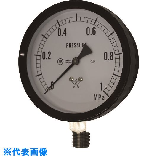 ■右下 ステンレス圧力計〔品番:G411-262-1.6MP〕[TR-1771470][送料別途見積り][法人・事業所限定][外直送]