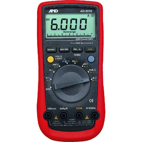 ■A&D 6000カウント デジタルマルチメーター AD-5519  〔品番:AD-5519〕外直送[TR-1795486]