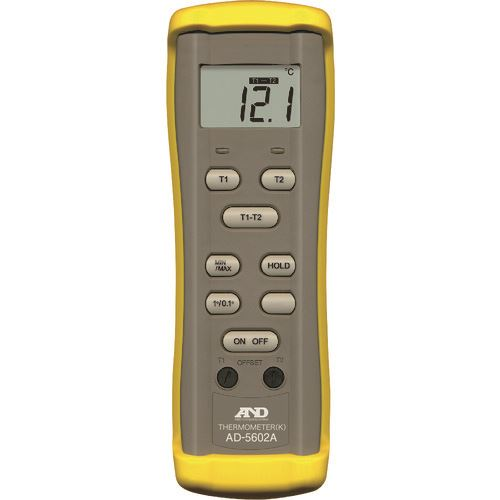 ■A&D 熱電対温度計(Kタイプ) AD5602A 一般(ISO)校正付(検査成績書+トレサビリティ体系図)  〔品番:AD5602A-00A00〕[TR-1795496]【個人宅配送不可】