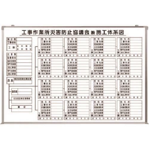 ■つくし 大型施工体系図(ホーロータイプ)  〔品番:BS-81〕[TR-1841635]