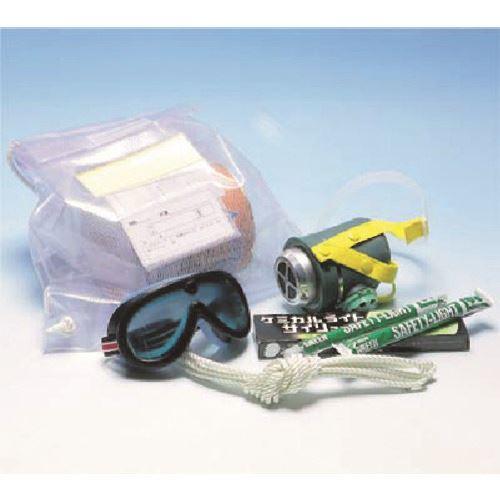 ■つくし 避難袋セット(非常時脱出用保護具)  〔品番:3640〕[TR-1849537]