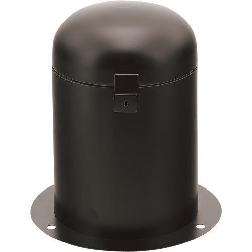 ■カクダイ 立型散水栓ボックス(ブラック・カギつき)  〔品番:626-139-D〕[TR-1977063]