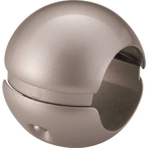 ■SHIROKUMA どこでもグリップボール形 32Φ シルバー 10個入 〔品番:BR-63-32-SI〕[TR-1978151×10]