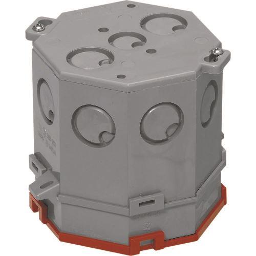 ■未来 八角コンクリートボックス(耐熱塗代カバー付) 20個入 〔品番:8CB-100N11H〕[TR-1984281×20]
