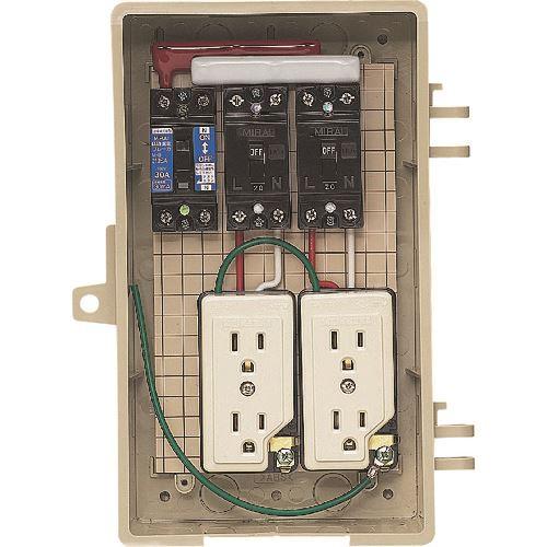 ■未来 屋外電力用仮設ボックス  〔品番:2A-2C〕[TR-2049304]