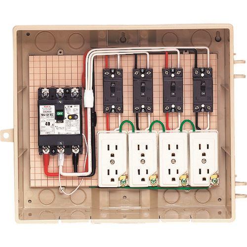 ■未来 屋外電力用仮設ボックス  〔品番:13-4C4〕[TR-2049351]