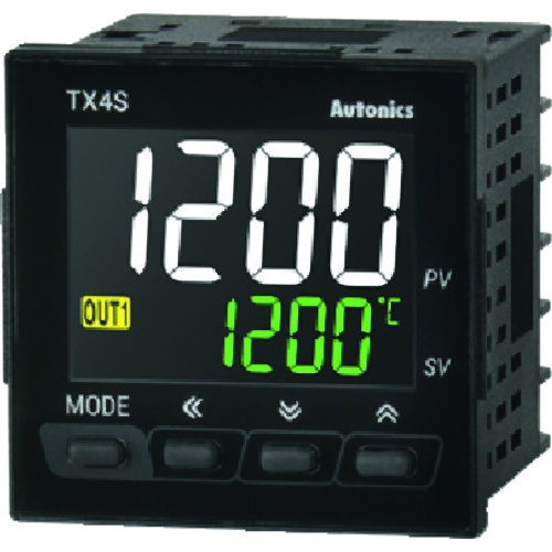 ■オートニクス LCDディスプレイ温調器〔品番:TX4S-B4C〕[TR-2079795]『基本寸法』