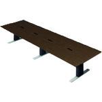 ■プラス XF 大型会議テーブル XL-4012KZ AW/P8 (696801)  〔品番:XL-4012KZ〕[TR-2092560]【大型・重量物・送料別途お見積り】