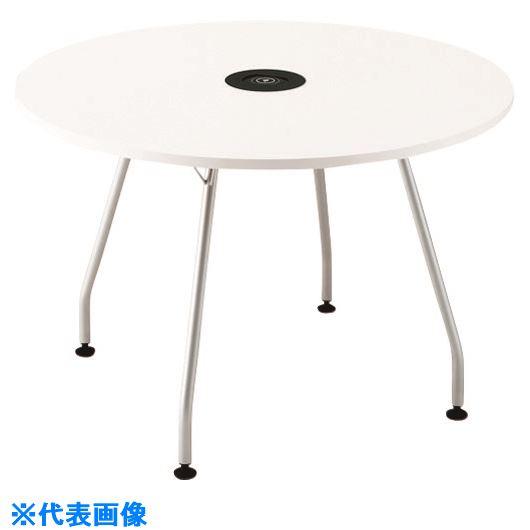 ■プラス ワイヤレス充電テーブル PL-1272SQ W4/M4 (610401)  〔品番:PL-1272SQ〕[TR-2093701]【大型・重量物・送料別途お見積り】