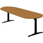 ■プラス ステージオ 会議テーブル ST-210TO T2/BK (623577)  〔品番:ST-210TO〕[TR-2095341]【大型・重量物・送料別途お見積り】