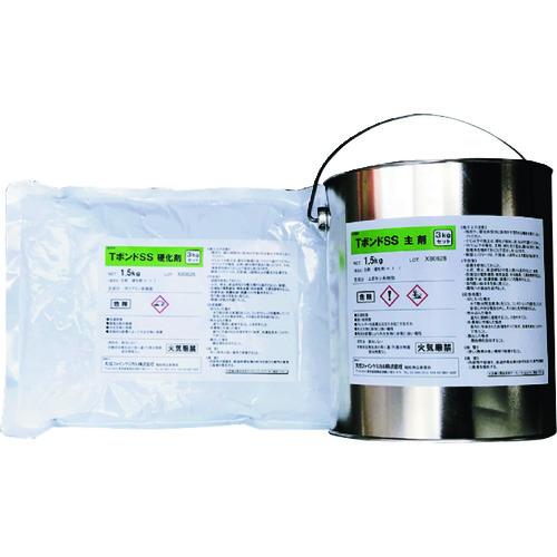■グリーンクロス ポストフレックス用 エポキシ系接着剤3kg缶 TSS-3K  〔品番:6300004064〕外直送元[TR-2123634]【個人宅配送不可】