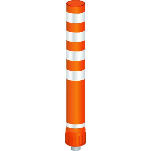 ■グリーンクロス ラウンドポスト 93台座 小径台座 RP-C1000 オレンジ  〔品番:6300004035〕外直送元[TR-2128424]【個人宅配送不可】