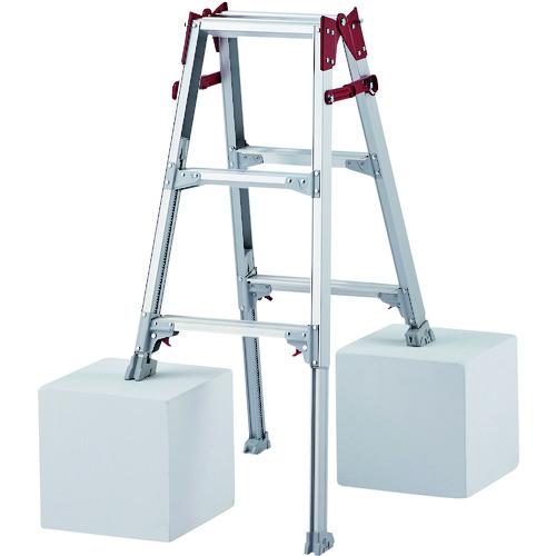 長谷川工業 脚立 ■ハセガワ 脚部伸縮式アルミはしご兼用脚立 3段 TR-2160481 卸直営 〔品番:RYZ-09B〕 RYZ型 発売モデル