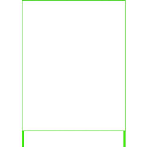 ■グリーンクロス SL立看板 無地白板鉄板 25角鉄枠付 1400×1100  〔品番:1101010615〕外直送[TR-2170632]【大型・重量物・個人宅配送不可】【送料別途見積もり】