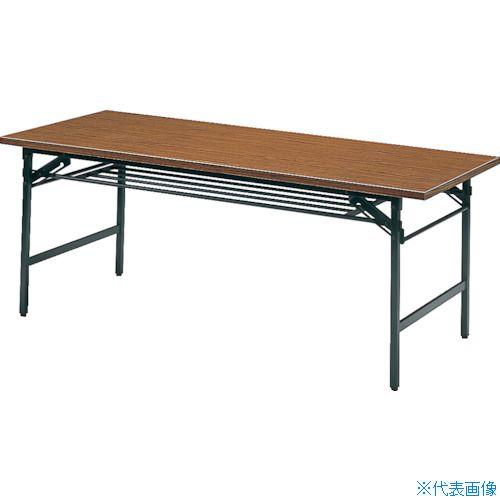■TRUSCO 折りたたみ会議テーブル 900X600XH700 チーク  〔品番:0960〕[TR-2417529]【大型・重量物・個人宅配送不可】