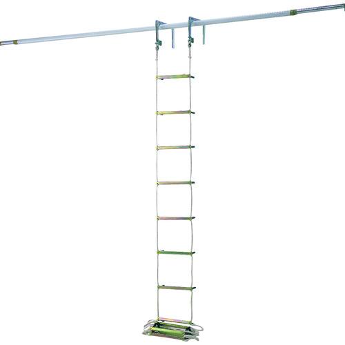 ■ピカ 避難用ロープはしご EK型4m〔品番:EK-4〕[TR-2430142]【個人宅配送不可】