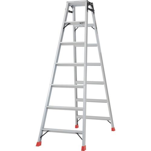 ■TRUSCO はしご兼用脚立 アルミ合金製脚カバー付 高さ1.98M  〔品番:TPRK-210〕[TR-2737621]【大型・重量物・個人宅配送不可】