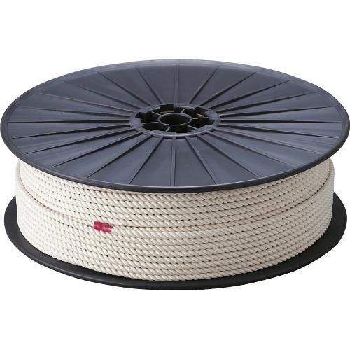 ■TRUSCO 綿ロープ 3つ打 線径6mmX長さ200m〔品番:R-6200M〕[TR-2767490]