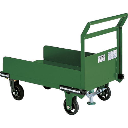 ■TRUSCO 鋼鉄製運搬車 900X600 三面パネル S付  〔品番:OHN-23PS〕[TR-3081206]【大型・重量物・個人宅配送不可】
