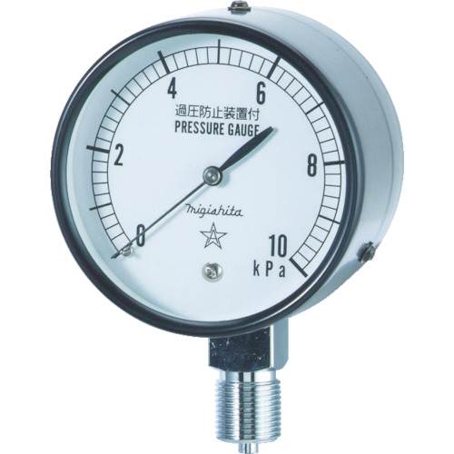 ■右下 微圧計 AT3/8×75×5KPA  〔品番:CA311-211-5KP〕[TR-3084345]