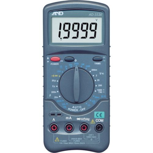 ■A&D デジタルマルチメーター高分解能、高機能形オートパワーオフ機能〔品番:AD5536〕[TR-3209962]