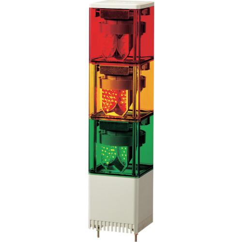 ■パトライト KES型 LED小型積層回転灯 82角  〔品番:KES-302-RYG〕[TR-3240223]